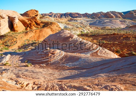 Valley of Fire, Nevada, Vegas, Red Rock, Nature, Outdoors, Landscape,  - stock photo