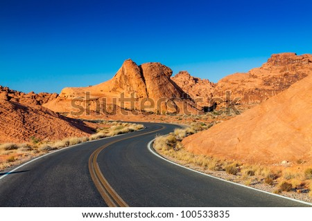Valley of Fire state park, Nevada USA - stock photo