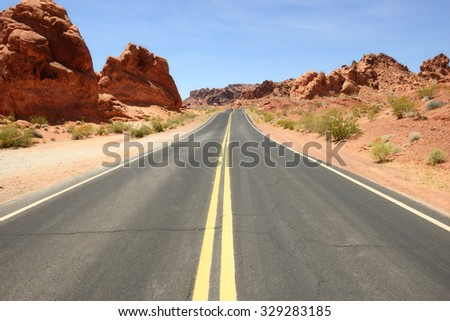 Valley of fire, USA - stock photo