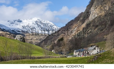 valley of Gavarnie in south of France