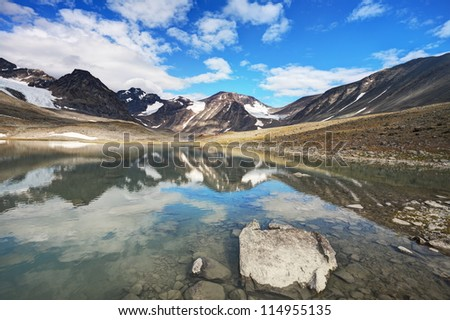 Valley of Tarfala in Sweden - stock photo