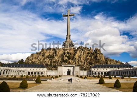 Valley of the fallen - A memorial dedicated to all the victims of the spanish civil war. - stock photo