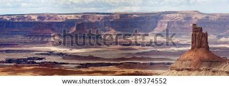 Valley of the Gods, Utah - panorama - stock photo