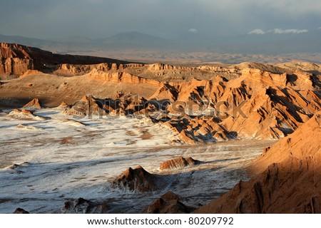 Valley of the Moon, Atacama, Chile. - stock photo