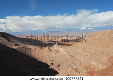 Valley of the Moon, Atacama, Chile. san pedro