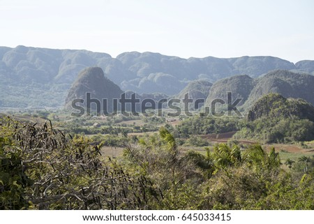 Valley of Vinales panoramic view in Cuba