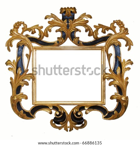 valuable carved and gilded frame hand