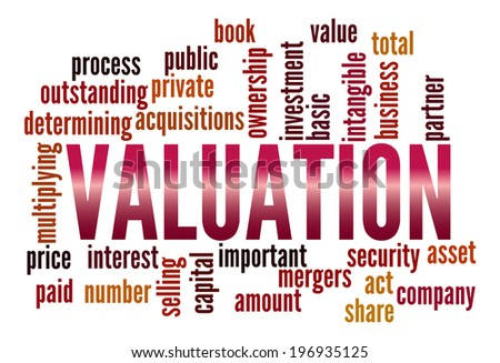 Valuation in word collage - stock photo