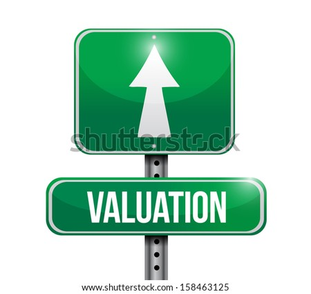 valuation road sign illustration design over a white background - stock photo
