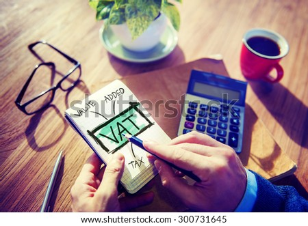 Value Added Tax VAT Finance Taxation Accounting Concept - stock photo
