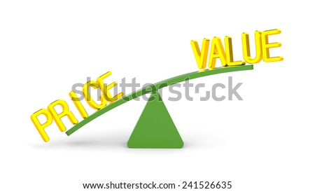 Value and price - stock photo