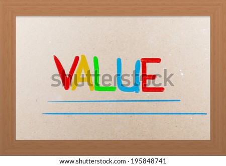 Value Concept - stock photo