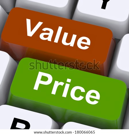 Value Price Keys Meaning Product Quality And Pricing - stock photo