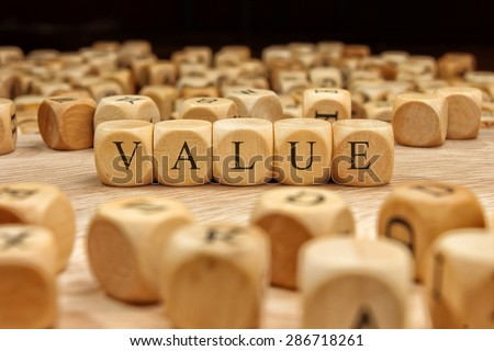 VALUE word concept - stock photo