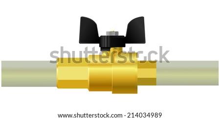 valve.  - stock photo