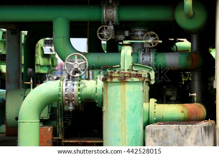 valve and pipe line connection to Power Plant