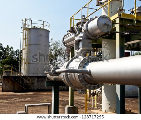 valve and pipeline in oil refinery plant
