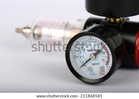 Valve compressor - stock photo
