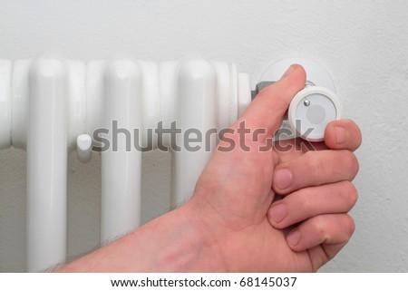 valve from  radiator - stock photo