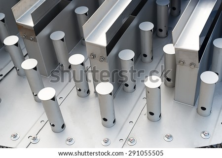 Valve tray, distillation column tray - stock photo