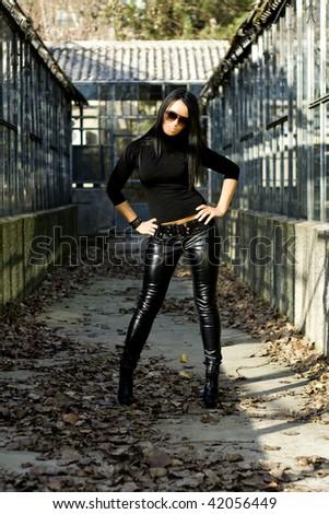 Vamp Woman - stock photo