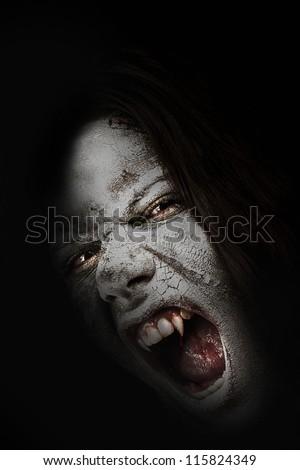 Vampire  attacking from darkness/Vampire - stock photo