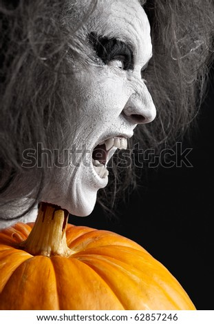 Vampire. Halloween theme. - stock photo