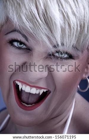 Vampire woman  - stock photo