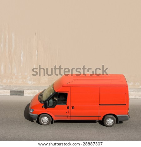van - stock photo