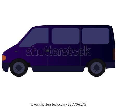 van on white background