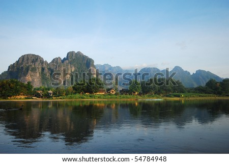 Van Vieng - stock photo