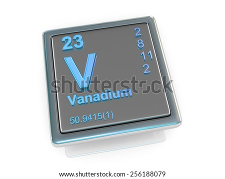Vanadium chemical element 3d stock photo - Vanadium symbol periodic table ...