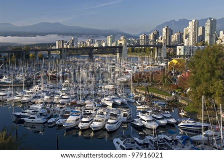 Vancouver and Granville Island's BC Marina