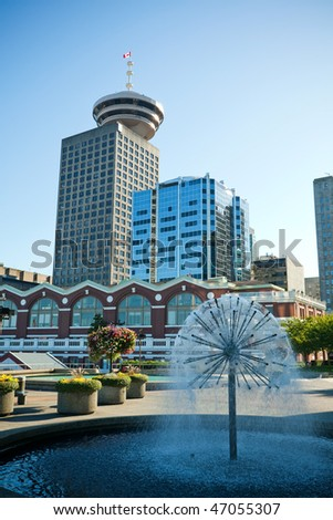 Vancouver BC Downtown, Canada - stock photo