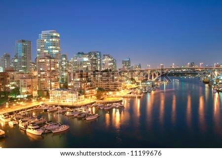 Vancouver, British Columbia Skyline - stock photo