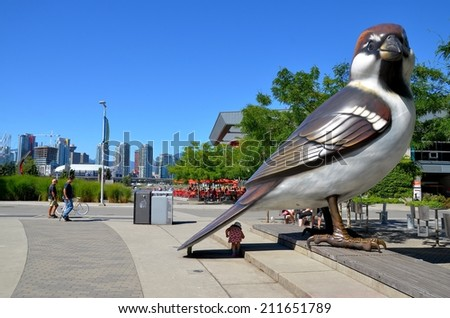 VANCOUVER, CA- JULY 28: Downtown Vancouver Waterfront, and Lifestyle on July 28, 2014 in Vancouver, CA Vancouver has prominent buildings in a variety of styles by many famous architects. - stock photo
