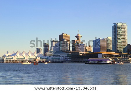Vancouver Canada downtown cityscape - stock photo