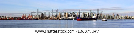 Vancouver Canada panoramic cityscape. - stock photo