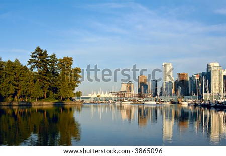 Vancouver, Canada, view from Stanley park. - stock photo