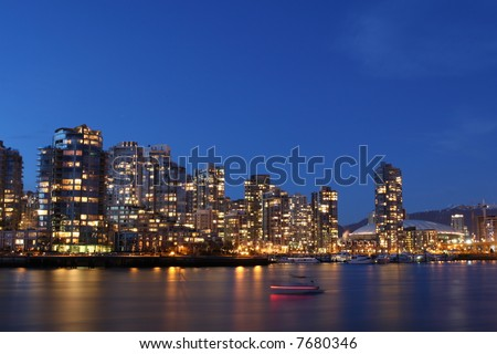 Vancouver Cast in Twilight - stock photo