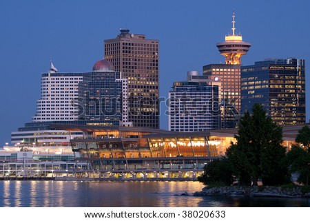 Vancouver Central Business District - stock photo