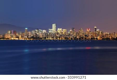 Vancouver city skyline - stock photo