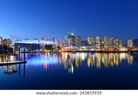 Vancouver City skyline, Vancouver, British Columbia, Canada - stock photo