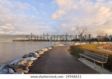 Vancouver cityscape in the morning