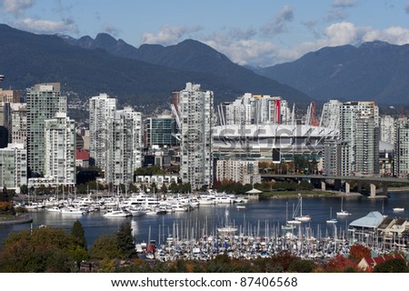 Vancouver downtown and False Creek