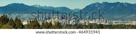 Vancouver downtown with high mountains