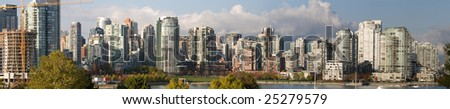 Vancouver False Creek Panorama - stock photo