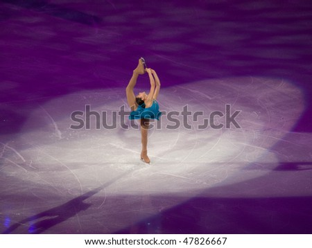 VANCOUVER - FEB 27: Mirai Nagasu of USA at the Figure Skating Olympic Gala during the Vancouver 2010 Olympic Games on February 27, 2010 in Vancouver, British Columbia, Canada - stock photo