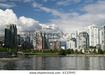 Vancouver From The Water - stock photo