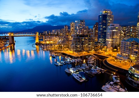 vancouver night view
